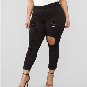 Fashion Nova Destructed Jeans